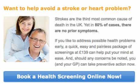 Life Line Screening's website
