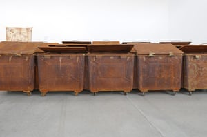 Brodsky: 20 Garbage Cans, an installation by Alexander Brodsky
