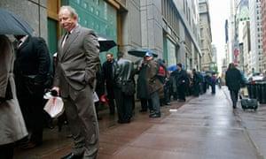 US unemployment line