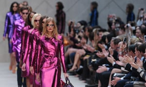 Models present the Burberry Prorsum 2013 spring/summer collection at London Fashion Week