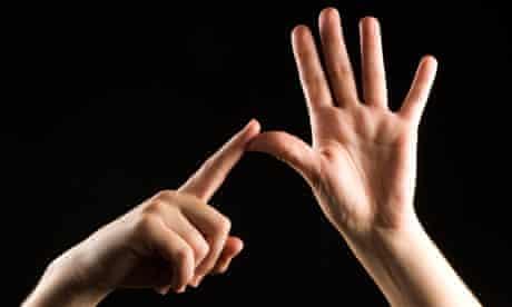 British sign language letter A