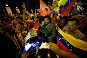 Venezuela elections: Supporters of Venezuela's President Hugo Chavez