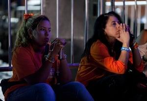 Venezuela elections: Supporters of Henrique Capriles wait for results