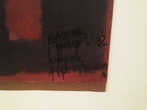 Defaced artworks: Rothko defaced at the Tate