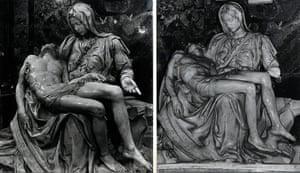 Defaced artworks: Michelangelo's Pieta at the Vatican