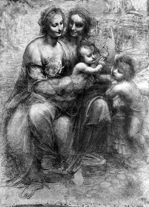 Defaced artworks: Leonardo's The Virgin and Child with Saint Anne and Saint John the Baptist