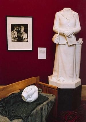 Defaced art: The damaged statue of former Prime Minister Margaret Thatcher