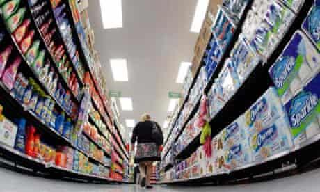 Walmart shopping aisle
