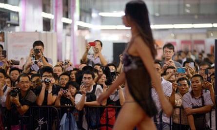 Chinese sex fair catwalk