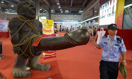 Statue at Chinese sex fair