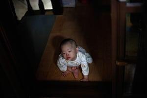FTA: Kim Hong-Ji: A child who was abandoned at a 'baby box' plays at the church in Seoul