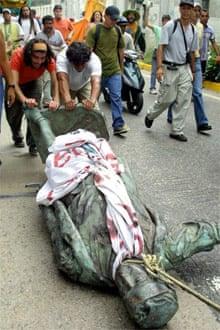 Columbus Day protest in Venezuela