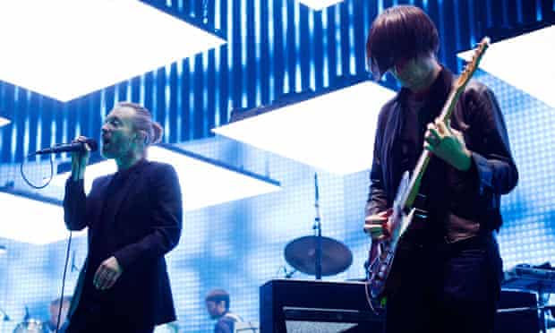 Radiohead perform at the O2 in London on 8 October 2012