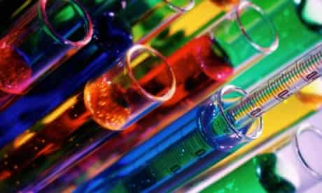Colourful liquids in test tubes