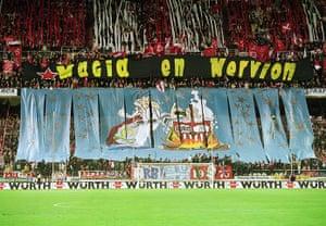 Tifo: Sevilla fans