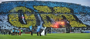 Tifo: Marseille's supporters' tifo