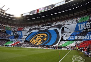 Tifo: A general view of Inter Milan fans