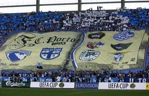 Tifo: Porto fans