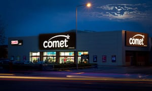 Comet electrical goods store