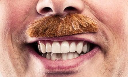 Man with false moustache