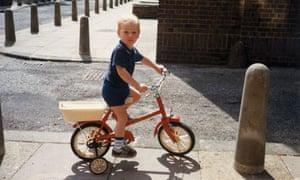 Bradley Wiggins on his first bike