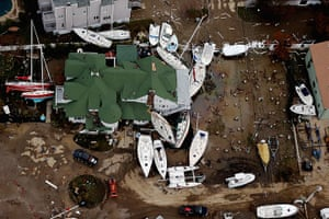 From the agencies: Boats are strewn among buildings amid wreckage in Sea Bright, New Jersey