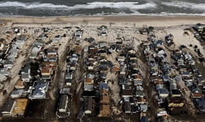 From the agencies: Homes sit in ruin next to the Atlantic Ocean in Seaside Heights, New Jersey