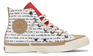 80361b27ff4742 Oscar Niemeyer s Converse trainers are decorated with a handwritten poem  about curves