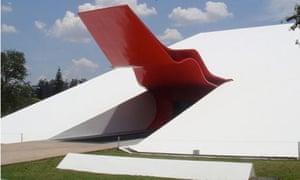 The red canopy of São Paulo's Ibirapuera Auditorium