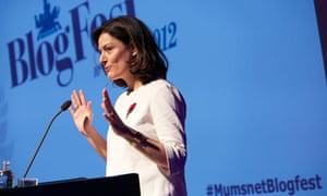 Miriam Gonzalez Durantz addresses Mumsnet Blogfest