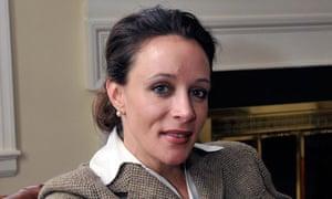 "Paula Broadwell, author of the David Petraeus biography ""All In"""