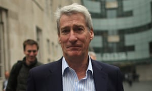 The BBC's Newsnight presenter Jeremy Paxman leaves BBC Broadcasting House on 22 October 2012 in London.