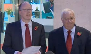 George Entwistle with Lord Patten