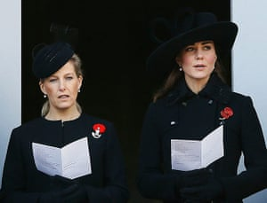 UK Remembrance Day: Sophie, the Countess of Wessex and the Duchess of Cambridge