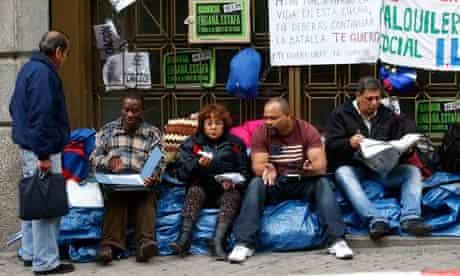 Mortgage Victims' Platform members outside Bankia