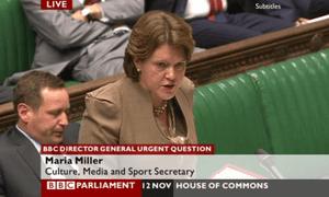 Maria Miller addresses the Commons on 12 November 2012