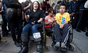 Protesters demonstrate against IT company Atos's involment in tests for incapacity benefits