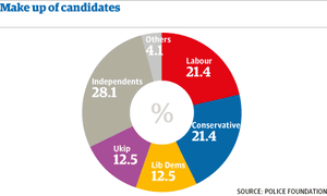 Graphic: PCC - make up of candidates
