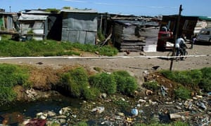 Shanty town outside Cape Town, South Africa