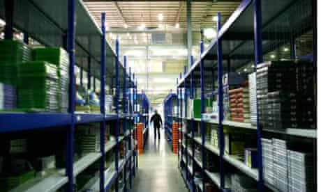 Amazon online bookstore warehouse