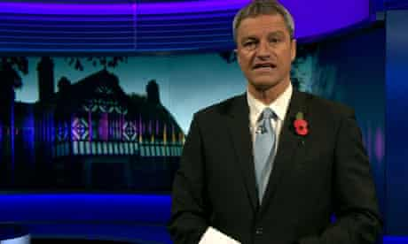Gavin Essler anchoring the ill-fated Newsnight programme on child abuse allegations in Wales