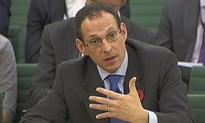 Andrew Cecil, director of public policy for Amazon, addressing the public accounts committee