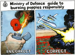 13.11.12: Steve Bell on teenager's arrest for posting burning poppy picture on Facebook