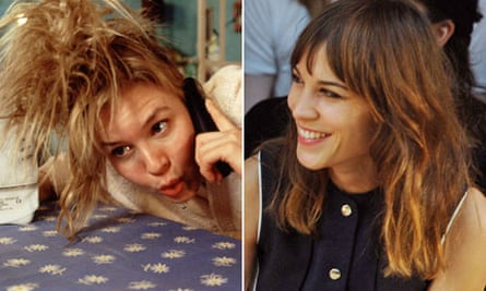 Bridget Jones fashion then and now: Straight and messy hair