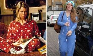 Bridget Jones fashion then and now: Animal pyjamas and onesies