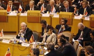 Britain's foreign secretary William Hague attends the joint Arab League-European foreign ministers' meeting on Syria