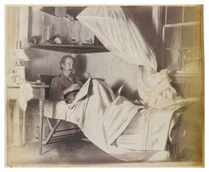 Robert Louis Stevenson: Robert Louis Stevenson ill in bed