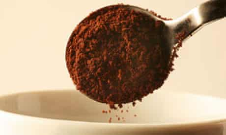 A spoonful of instant coffee