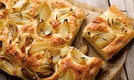 roasted onion focaccia
