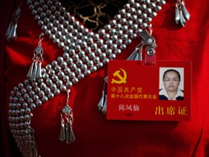 Carlos Barria China: A delegate wearing ethnic minority costume